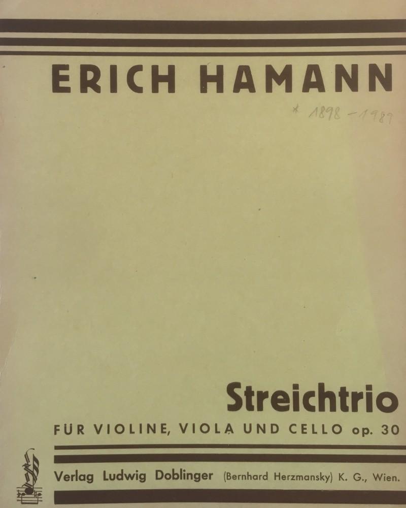 Trio d-moll, op. 30, für Violine, Bratsche und Violoncello