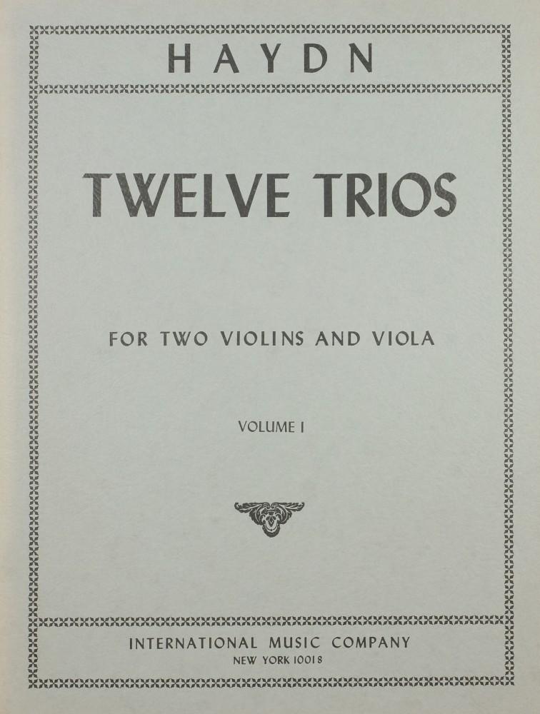 12 Trios, für 2 Violinen und Bratsche