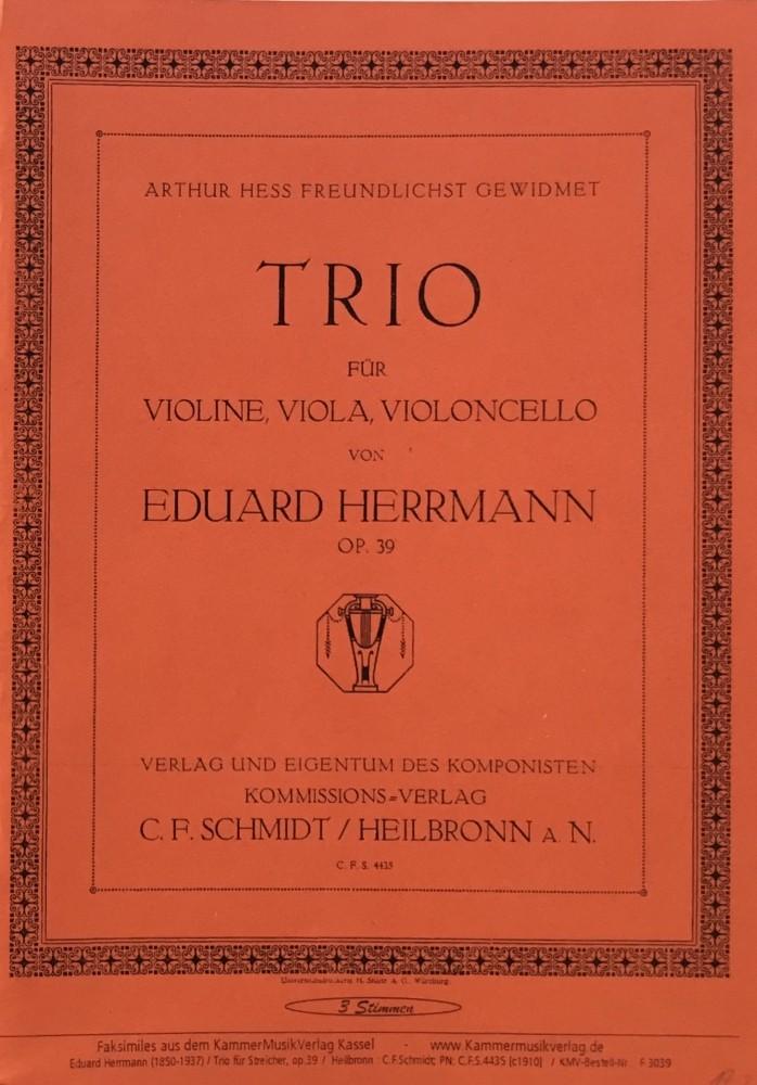 Trio g-moll, op. 39, für Violine, Bratsche und Violoncello