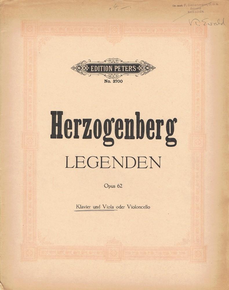 Legenden, op. 62, für Bratsche und Klavier