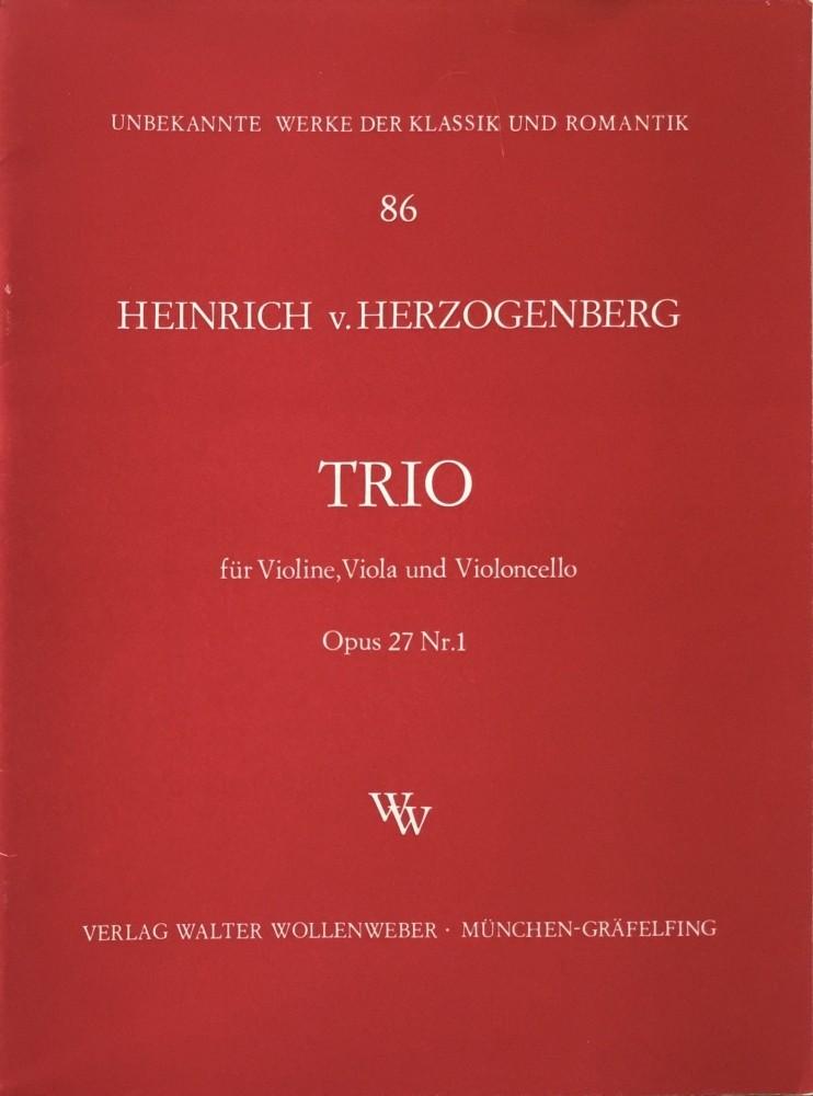 Trio A-dur, op. 27, Nr. 1, für Violine, Bratsche und Violoncello