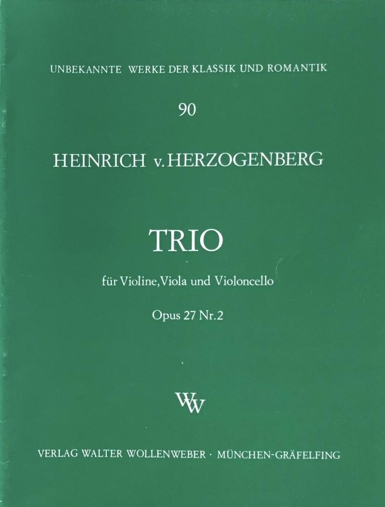 Trio F-dur, op. 27, Nr. 2, für Violine, Bratsche und Violoncello