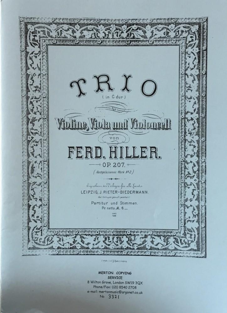 Trio C-dur, op. 207, für Violine, Bratsche und Violoncello
