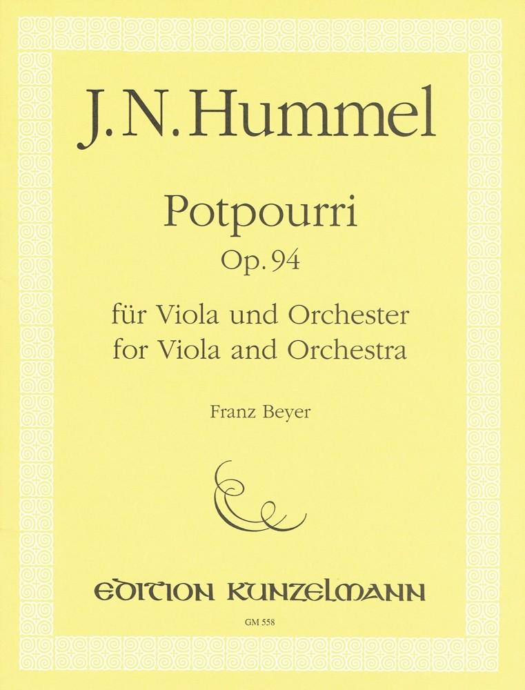 Potpourri, op. 94, für Bratsche und Orchester