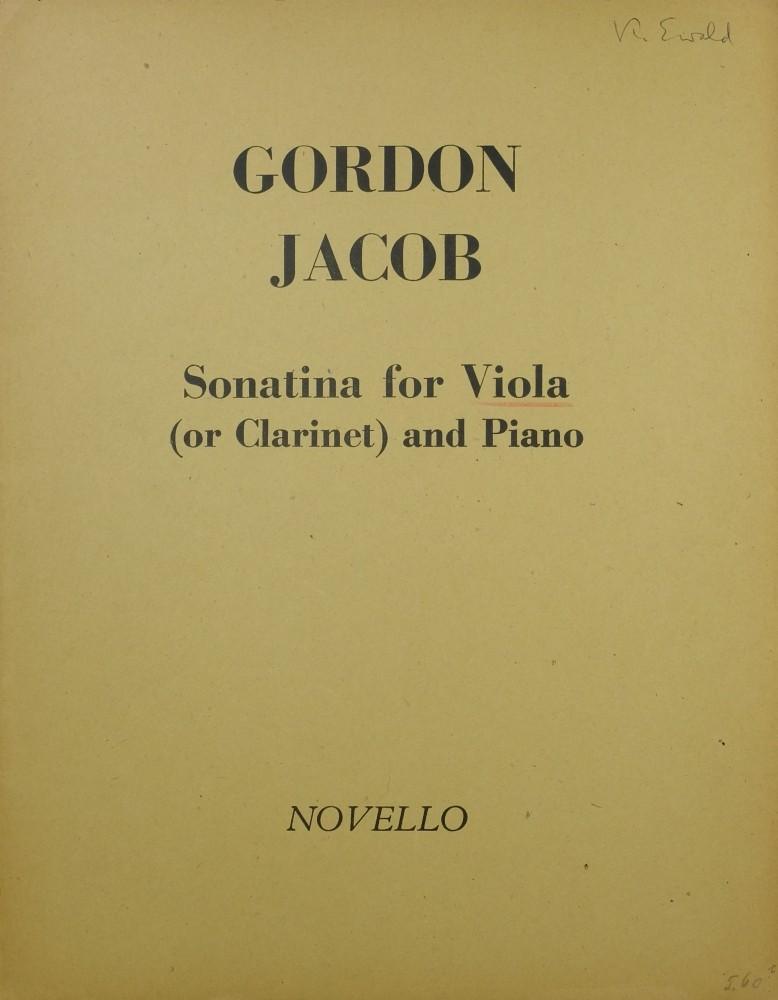 Sonatine für Bratsche (Klarinette) und Klavier
