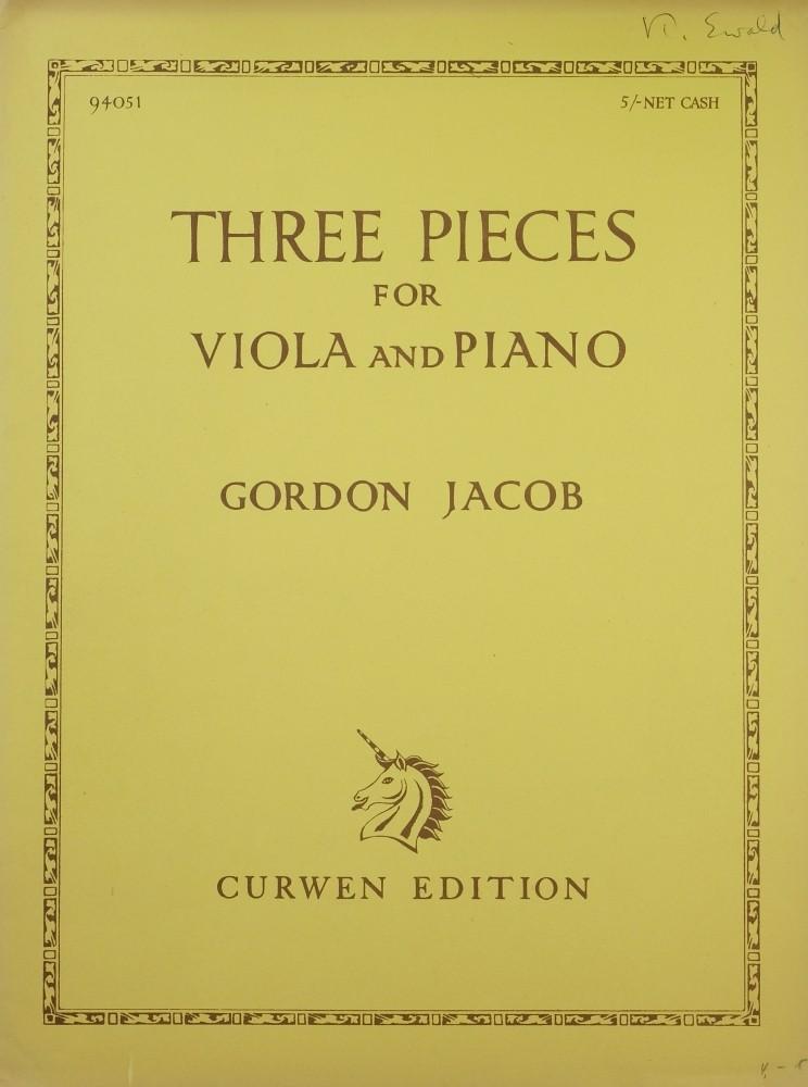 3 Pieces, für Bratsche und Klavier