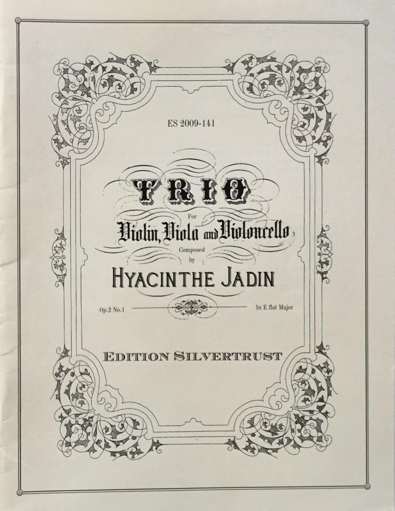 1. Trio Es-dur, op. 2, Nr. 1, für Violine, Bratsche und Violoncello