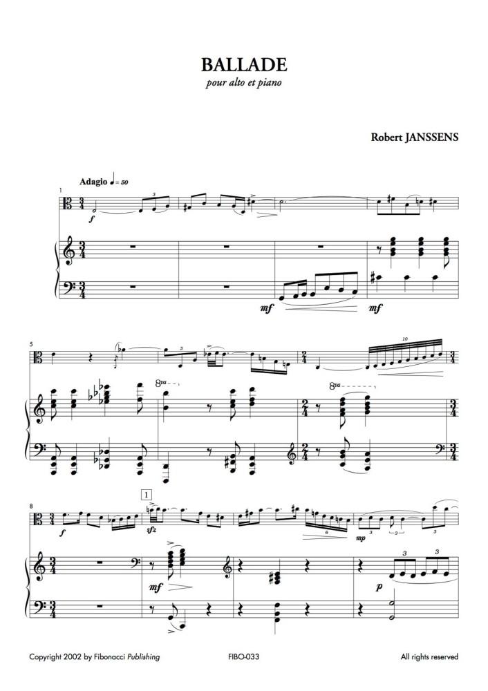 Ballade für Bratsche und Klavier