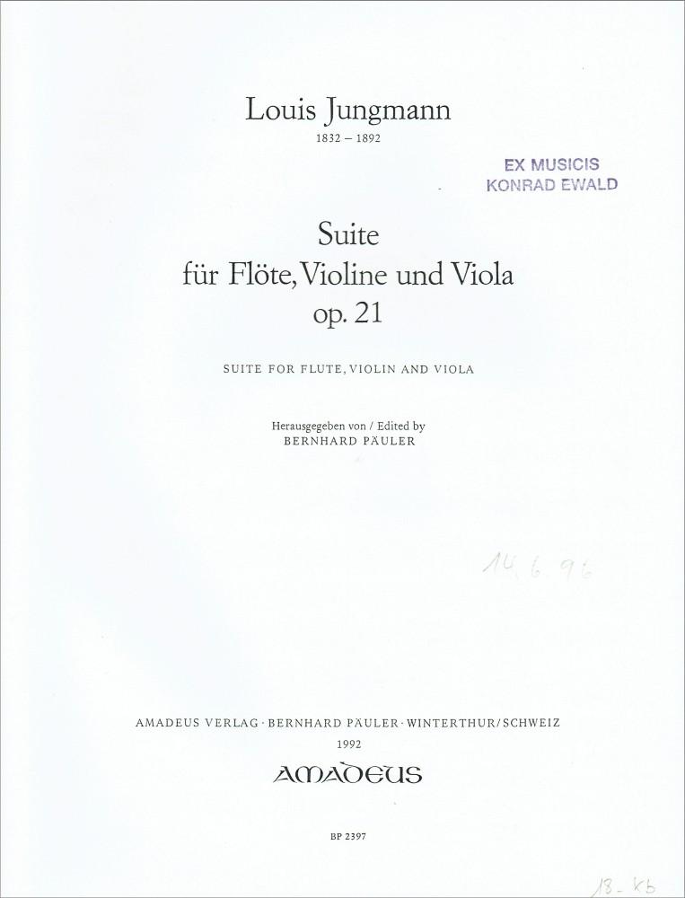 Suite, op. 21, für Flöte, Violine und Bratsche
