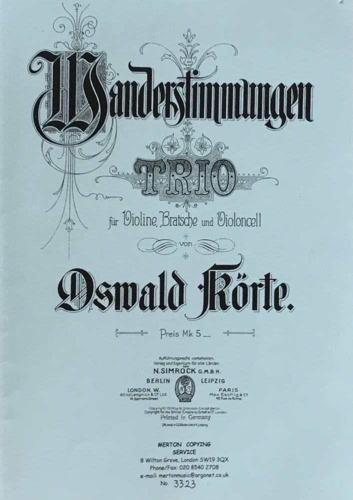 Wanderstimmungen, Trio für Violine, Bratsche und Violoncello