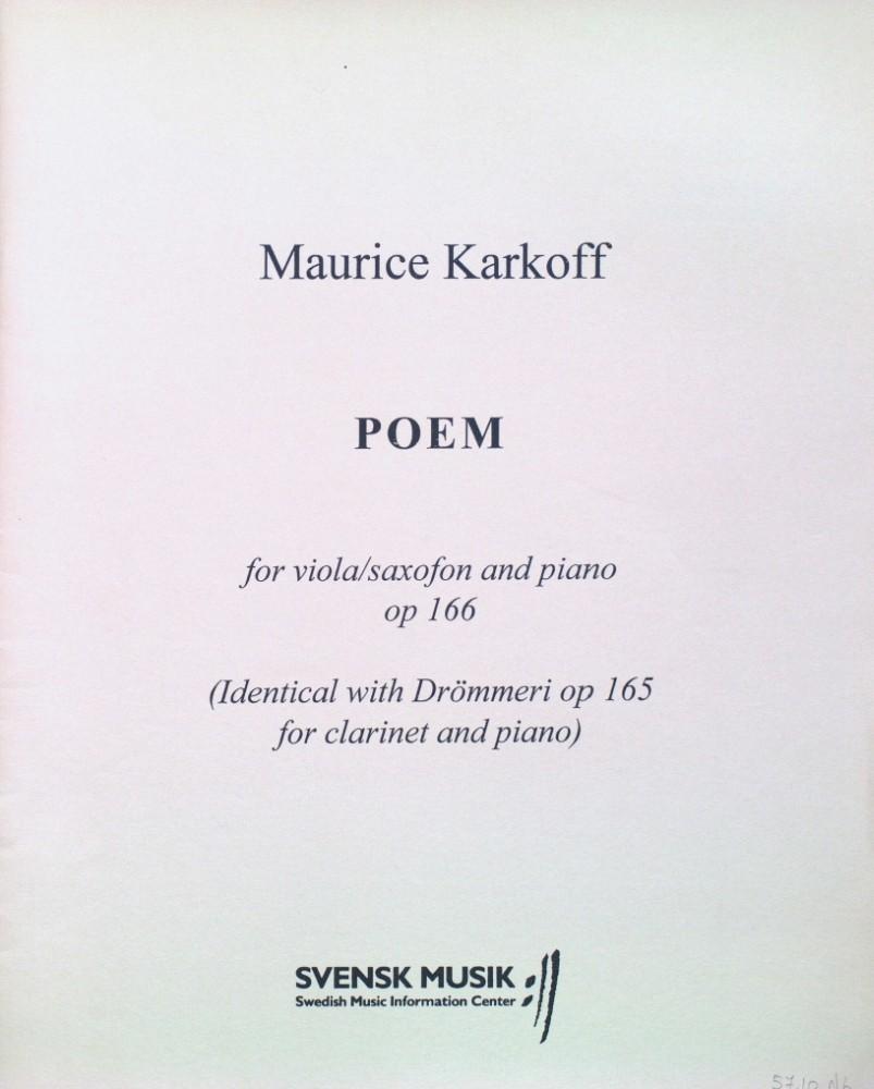 Poem, op. 166, für Bratsche und Klavier