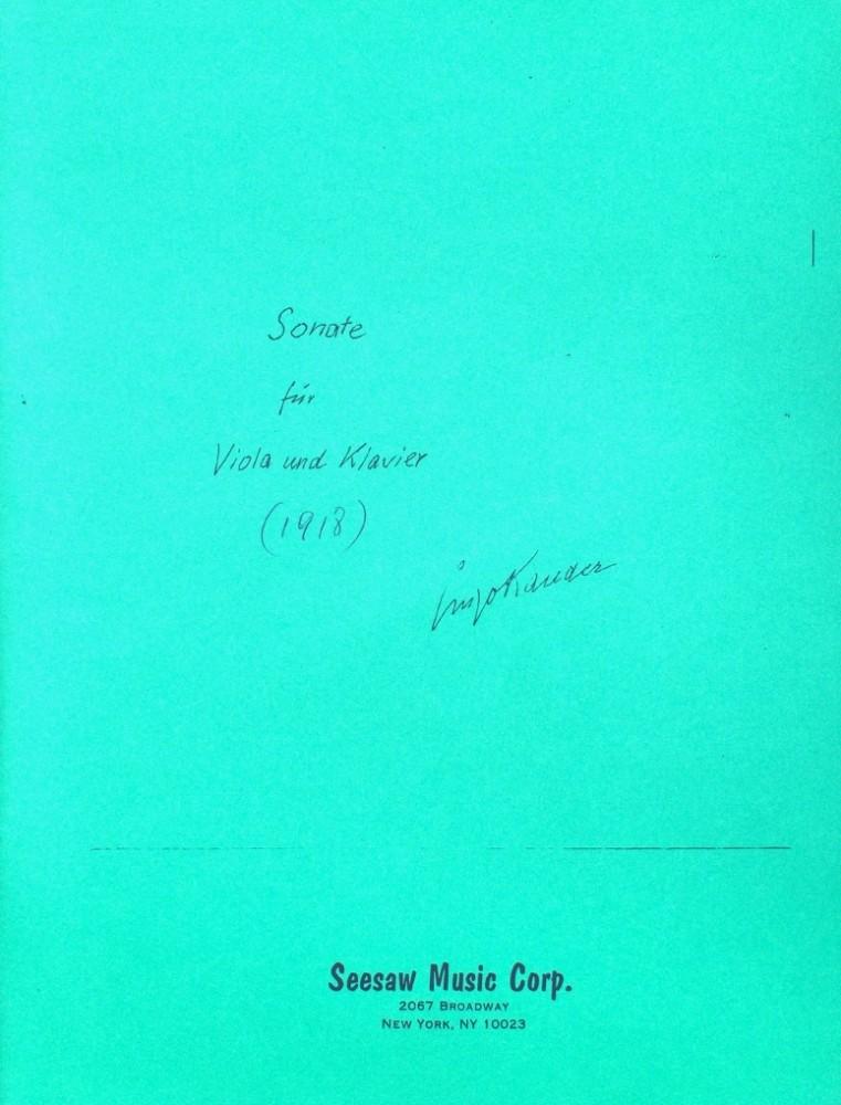 Sonate, für Bratsche und Klavier