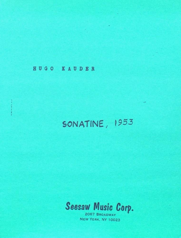 Sonatine, für Violoncello (Bratsche) und Klavier
