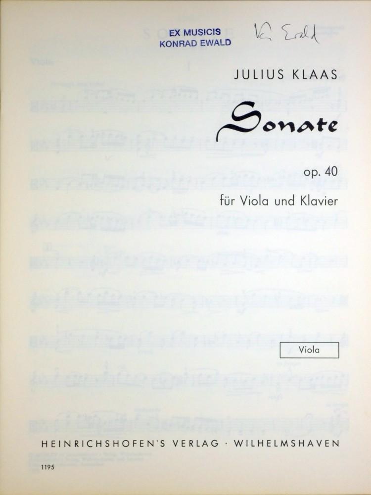 2. (?) Sonate c-moll, op. 40, für Bratsche und Klavier