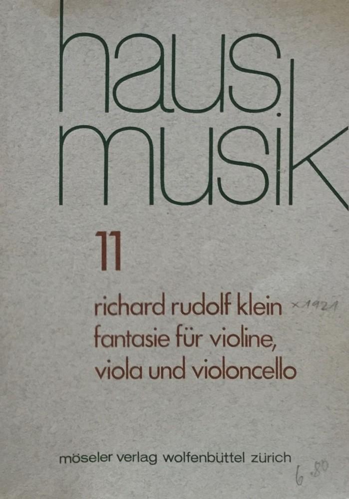 Fantasie, für Violine, Bratsche und Violoncello