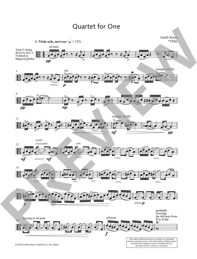 Quartet for One, für Bratsche solo