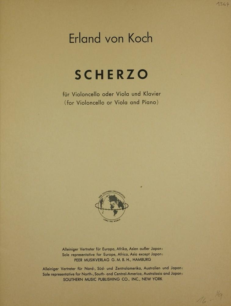Scherzo, für Violoncello (Bratsche) und Klavier