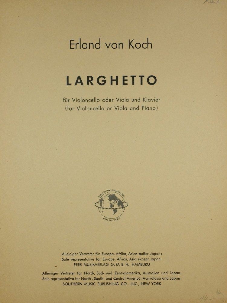 Larghetto, for Violoncello (Viola) and Piano