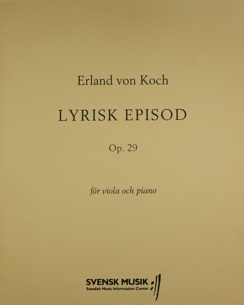 Lyrisk Episod, op. 29, für Bratsche und Klavier