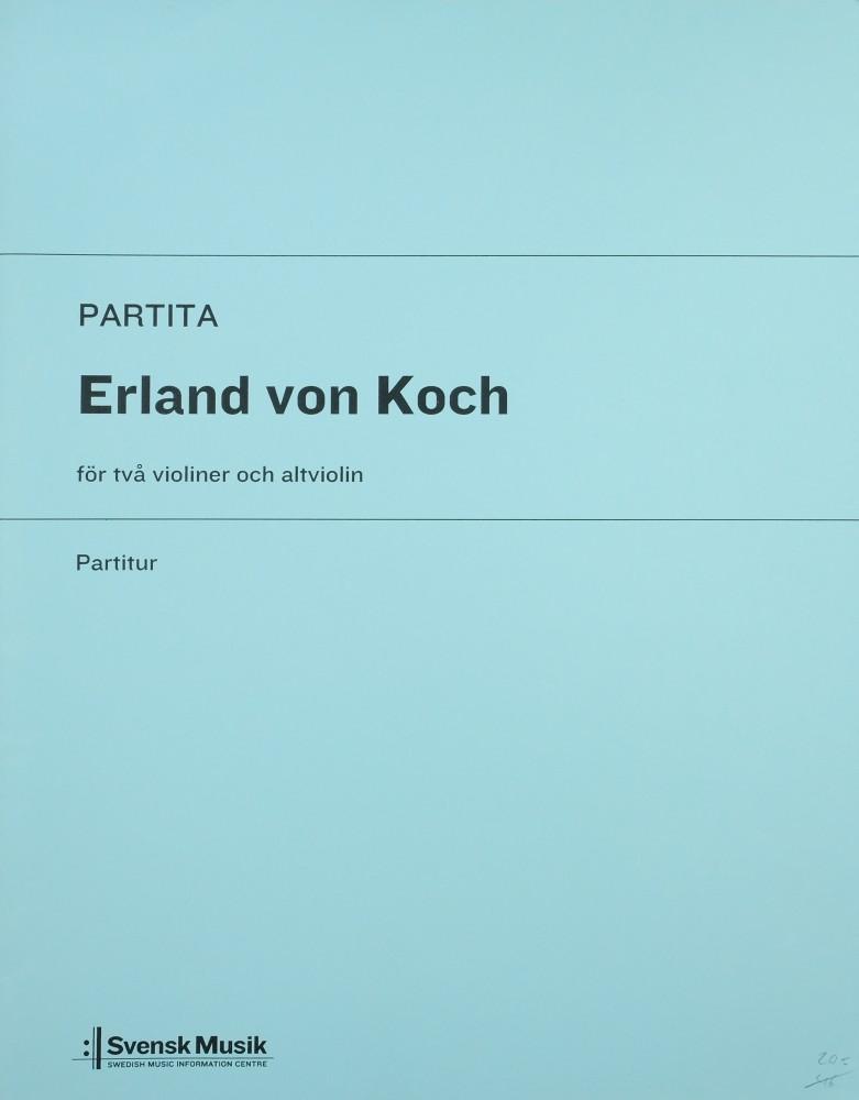 Partita, für 2 Violinen und Bratsche