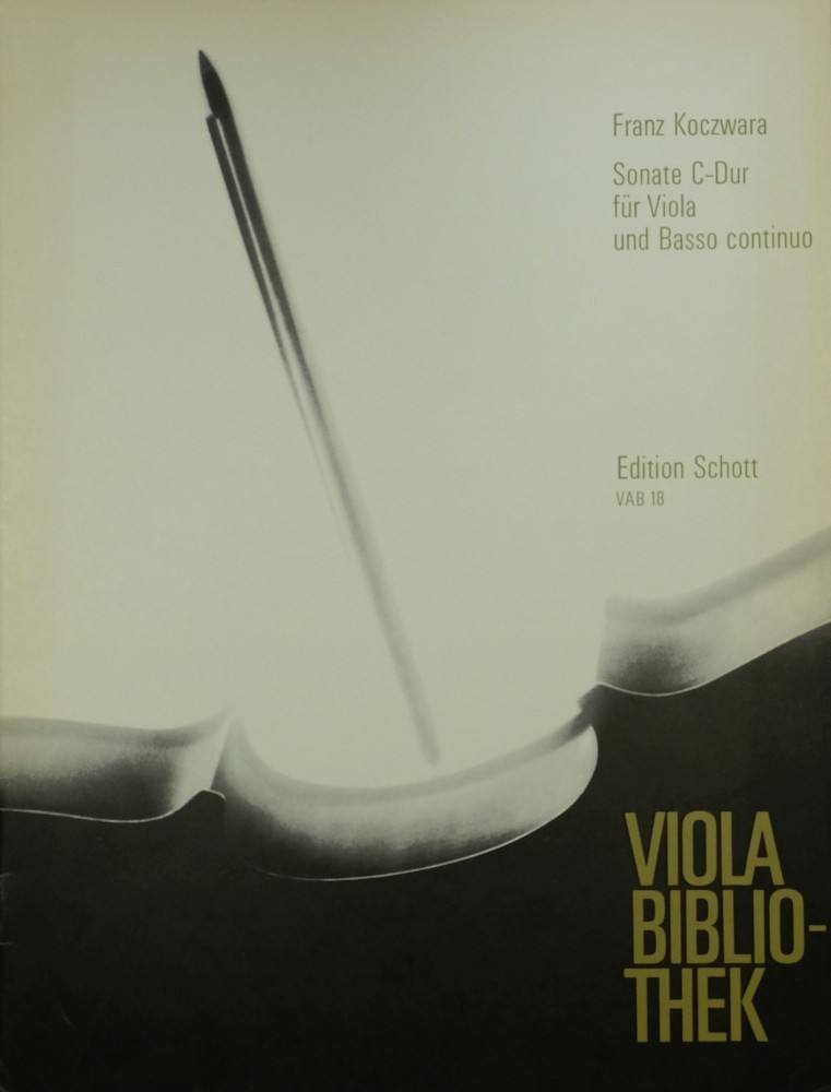 Sonata C-major, op. 2, No. 2, for Viola and Basso continuo