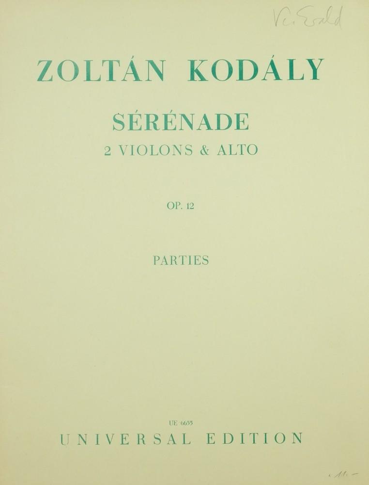 Serenade, op. 12, für 2 Violinen und Bratsche