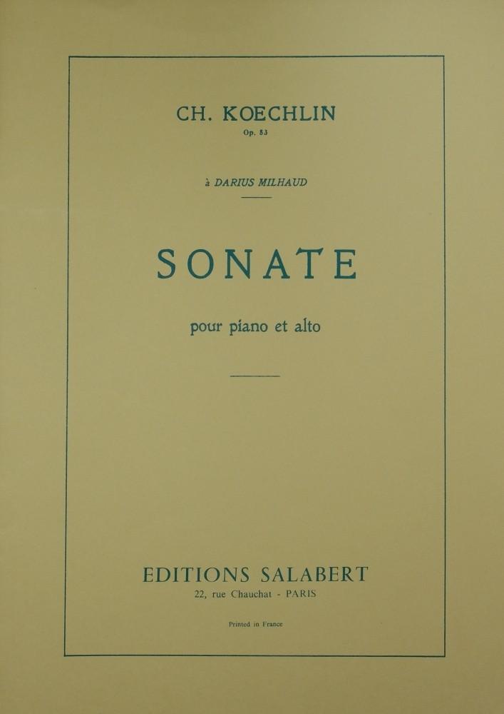 Sonata, op. 53, for Viola and Piano