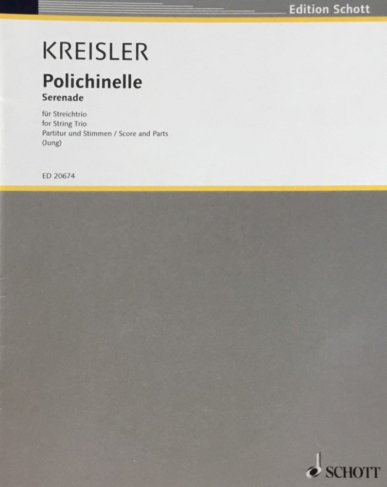 Polichinelle. Serenade für Violine und Klavier, arrangiert für Violine, Bratsche und Violoncello