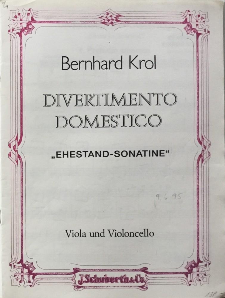 Divertimento Domestico (Ehestand-Sonatine), op. 111, für Bratsche und Violoncello