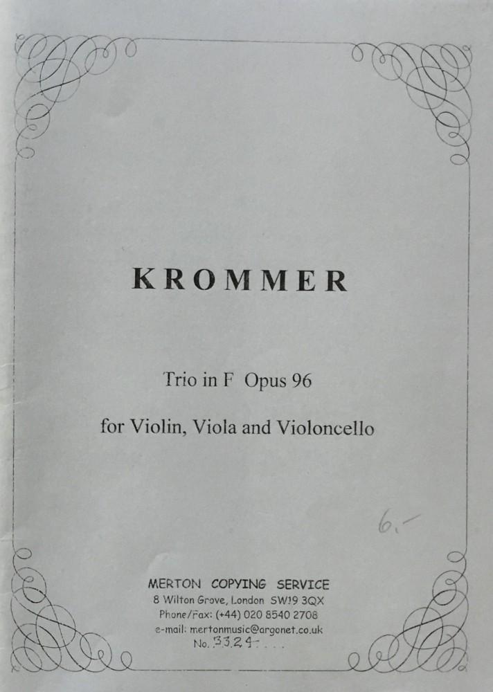 Trio F-dur, op. 96, für Violine, Bratsche und Violoncello