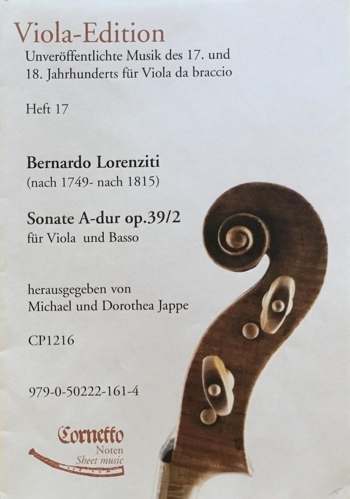 3 Sonaten, op. 39, für Bratsche und Kontrabass, daraus Nr.2, A-dur