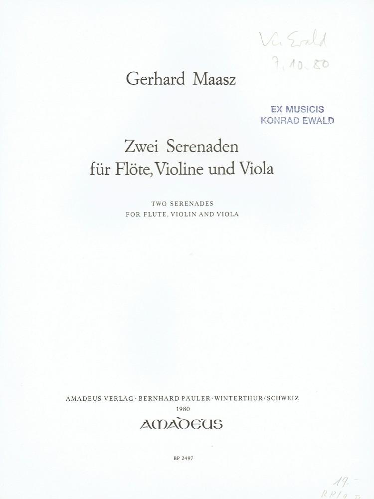 2 Serenaden (D/A), für Flöte, Violine und Bratsche