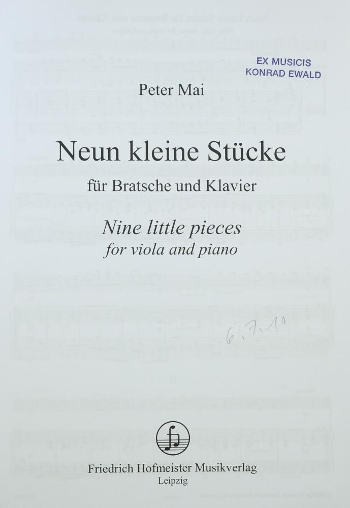 9 kleine Stücke, für Bratsche und Klavier