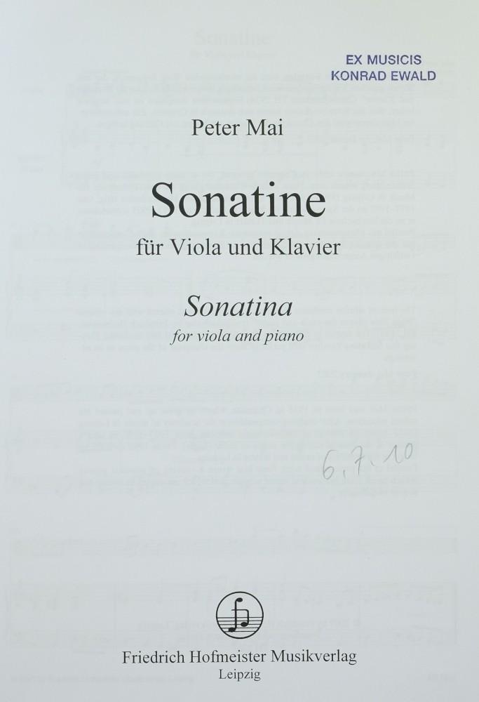 Sonatine, für Bratsche und Klavier