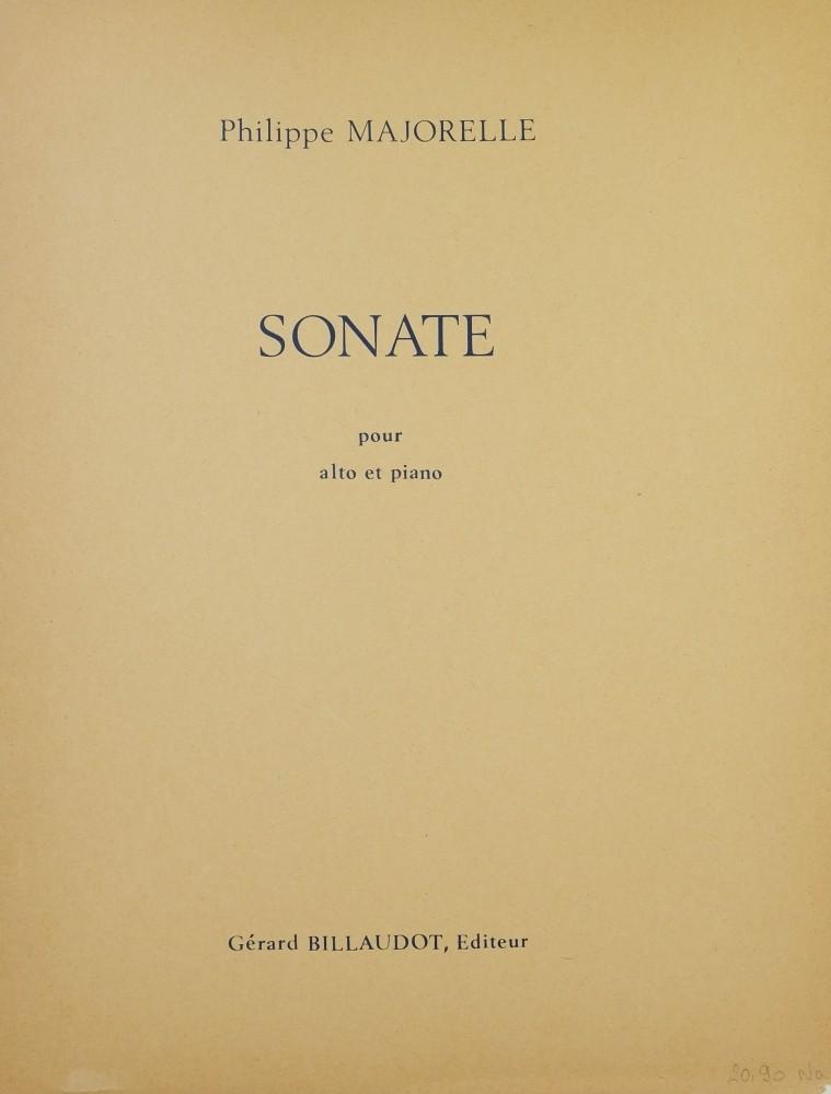 Sonate, op. 1, für Bratsche und Klavier