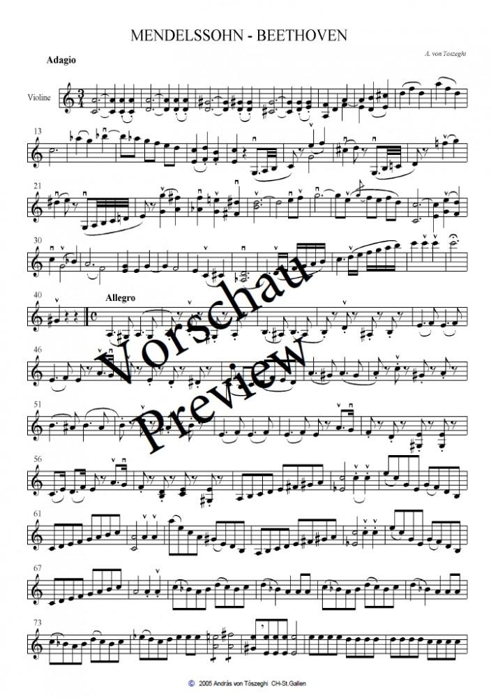 Mendelssohn - Beethoven, für Violine, Bratsche und Violoncello