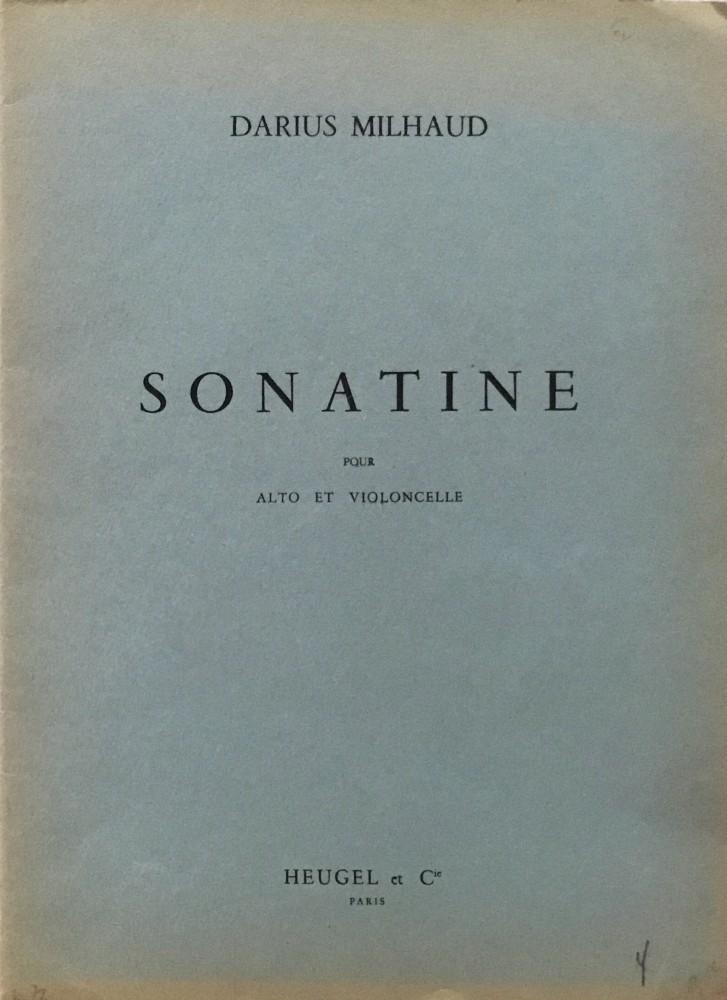 Sonatine, op. 378, für Bratsche und Violoncello