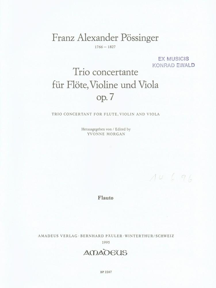 Trio C-dur, op. 7, für Flöte, Violine und Bratsche