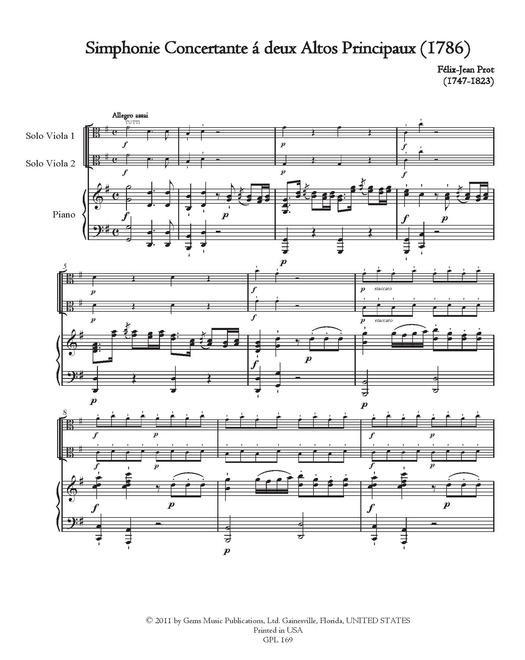 Sinfonia concertante G-dur, für 2 Bratschen und Orchester