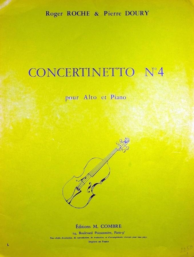 Concertinetto 4, für Bratsche und Klavier