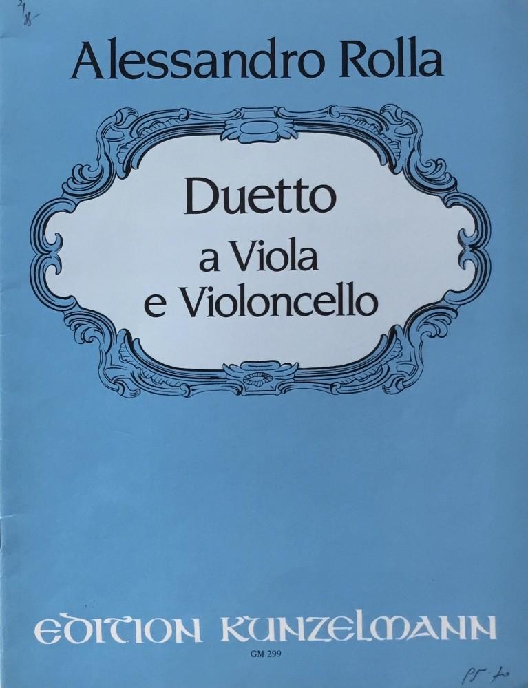 Duo F-dur, für Bratsche und Violoncello, für Bratsche und Klavier