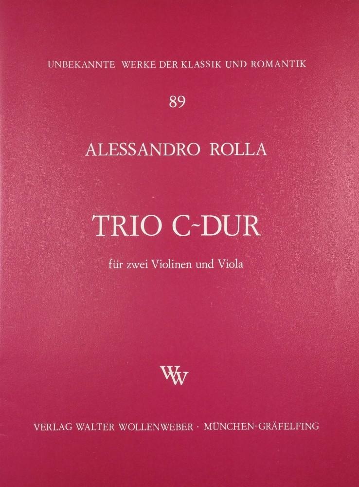 Trio C-dur, für 2 Klarinetten (2 Violinen) und Bratsche