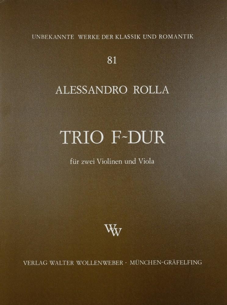 3 Trios (D/d/F), für 2 Violinen und Bratsche