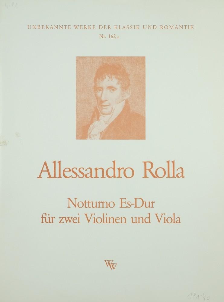 Notturno Es-dur, op. 2 (oder op. 11), für 2 Violinen und Bratsche