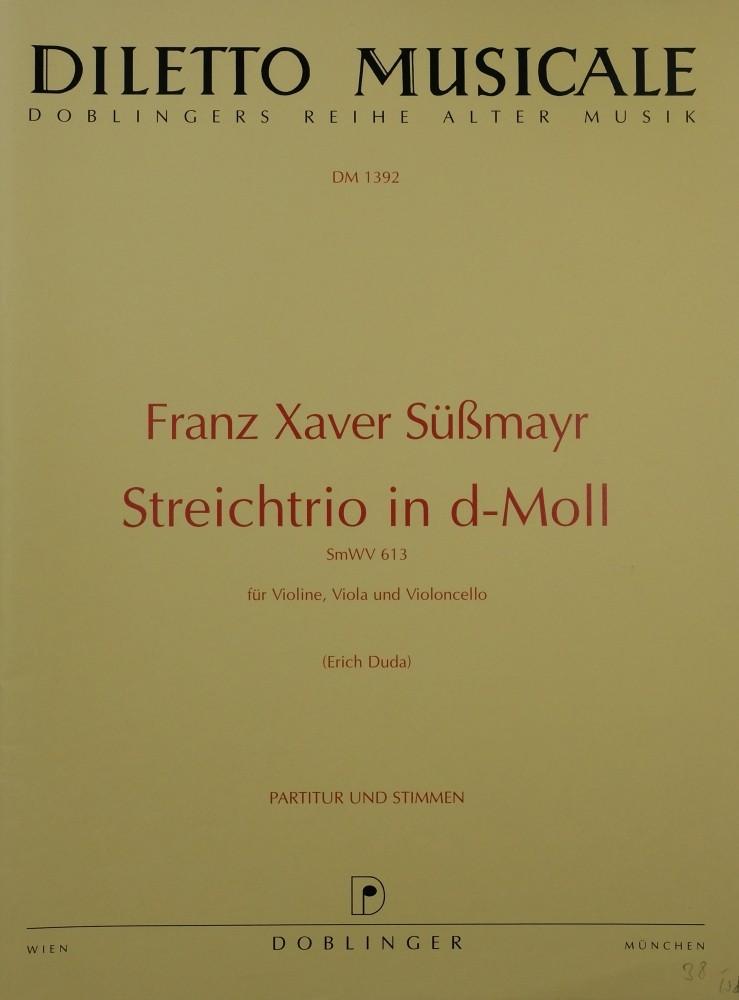 Trio d-moll/D-dur, für Violine, Bratsche und Violoncello