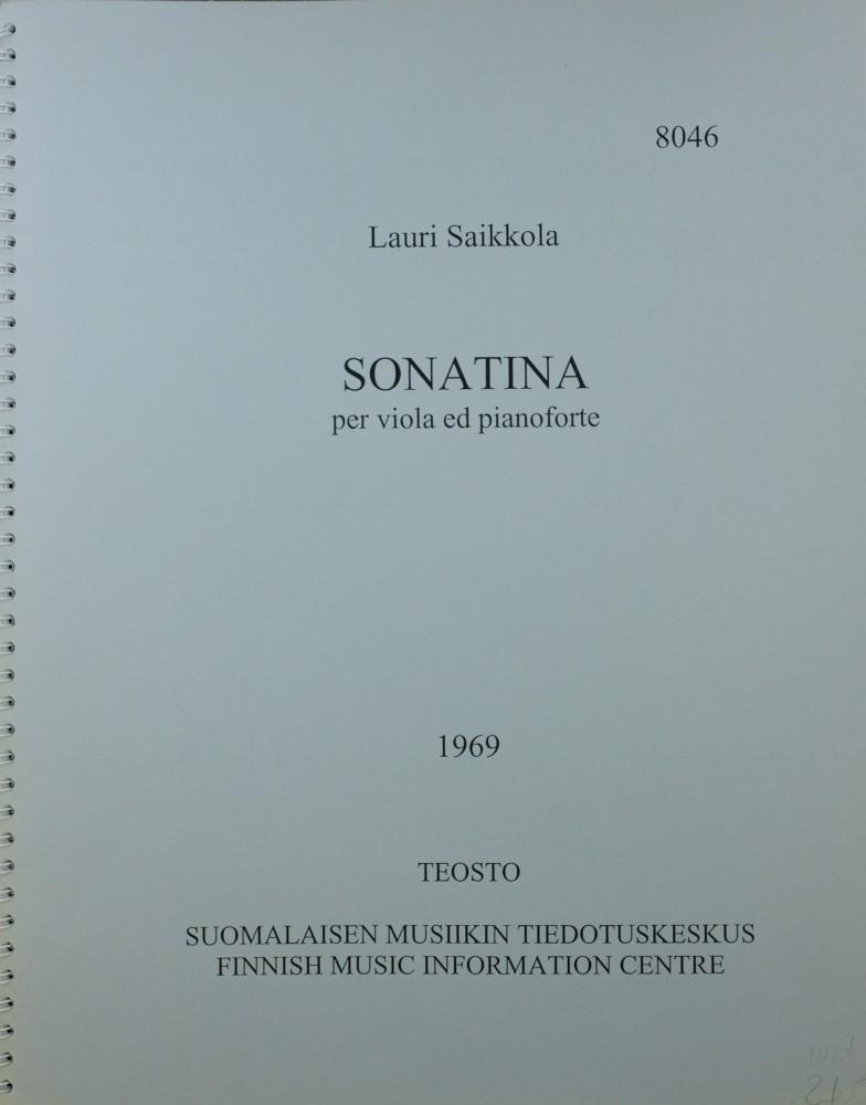 Sonatina für Bratsche und Klavier