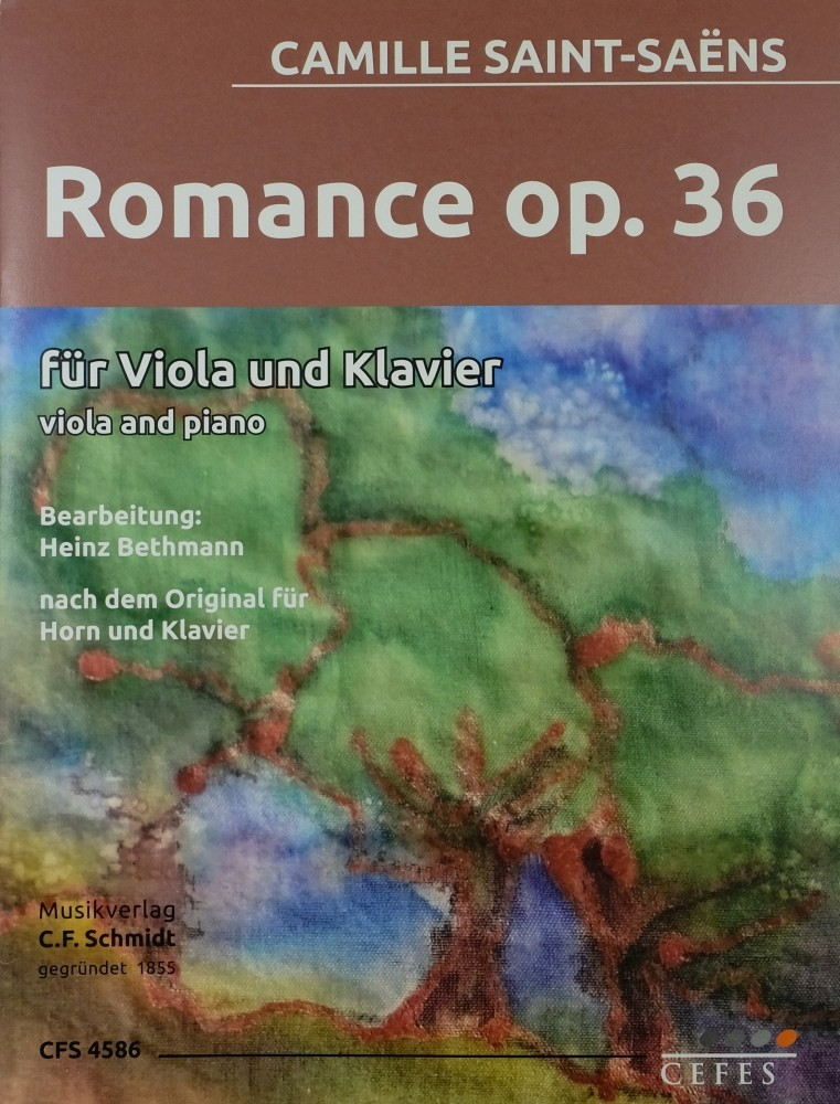 Romance F-major, op. 36, for Viola and Piano