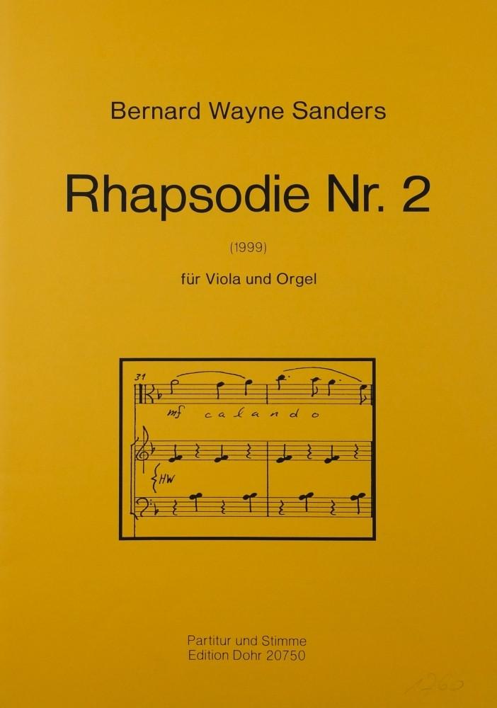 Rhapsodie Nr. 2, für Bratsche und Orgel