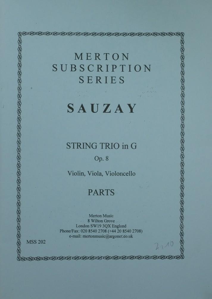 Trio G-dur, op. 8, für Violine, Bratsche und Violoncello
