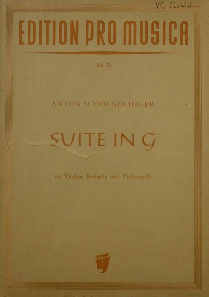 Suite G-dur, für Violine, Bratsche und Violoncello